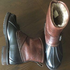 FRYE Veronica Duck Engineer SHEARLING WINTER Boots